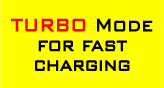 Turbo Mode for fast battery charging in workshop